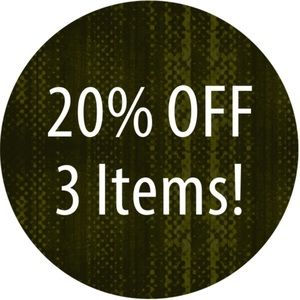 20% Off Any 3 Items From My Closet!!